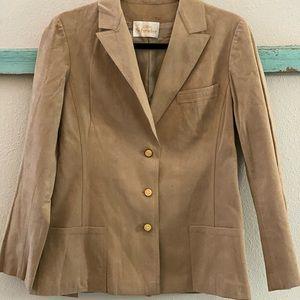 1970s Abe Schrader ultrasuede blazer camel jacket